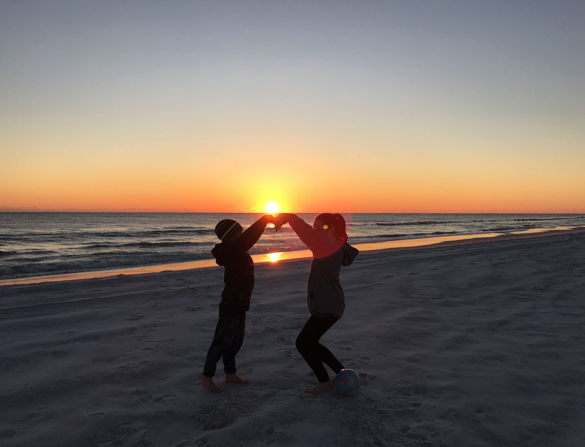 sunset in beach in northwest florida